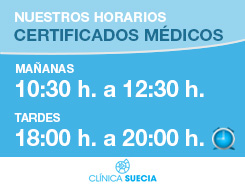 Horario clinica suecia: certificados médicos