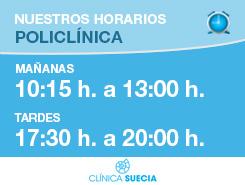 horario servicios policlínica Suecia en Valencia