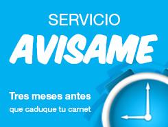 Servicio AVÍSAME clinica certificados medicos valencia